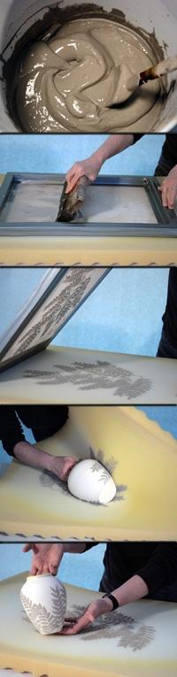 Печать на горшке